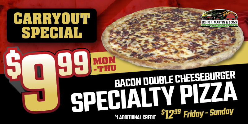 Bacon Double Cheeseburger Specialty Pizza